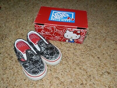 Vans Hello Kitty Kids Girls Sneakers Slip On Shoes Size Toddler 4.0