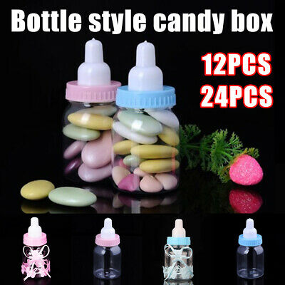 24/36X Fillable Bottles Candy Box Baby Shower Baptism Party Christening Favour