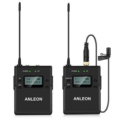 Anleon P1/C 40 Channel Wireless Lavalier Microphone System For Camera Sony Nikon