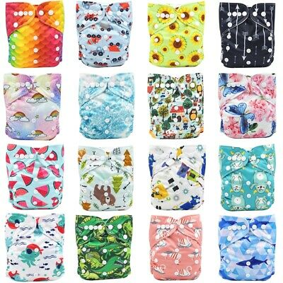 U PICK Reusable Washable Baby Cloth Nappy Nappies Diaper Waterproof Surface New