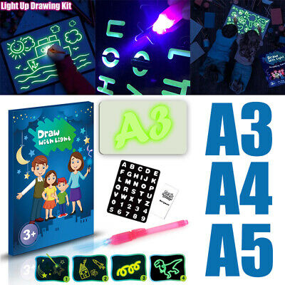 Light Up Drawing Fluorescent Magic Writing Board Kit Fun And Developing Kids Toy