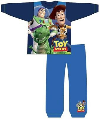 Toy Story Buzz Woody Pyjamas Childrens Kids Boys Blue PJs Age 18 Months-5 Years