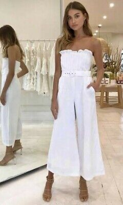 "Bec And Bridge White Jumpsuit ""Poolside Vibes"" Size 12"