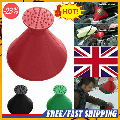NEW Magical Car Windshield Ice Snow Remover Scraper Cone Shaped Round Funnel