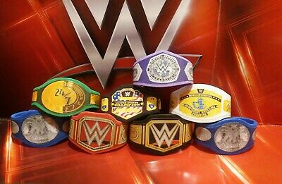 8 x  WWE Custom Made Bundle Titles Belts For Jakks/Mattel Wrestling Figures WWF
