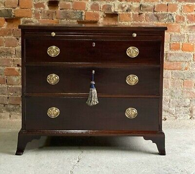 Antique George III Mahogany Bachelors Chest of Drawers 19th Century Circa 1830