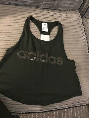 Womens Adidas Gym Vest Top - Size XS GYM SPORTS RUNNING EXERCISE. Cropped