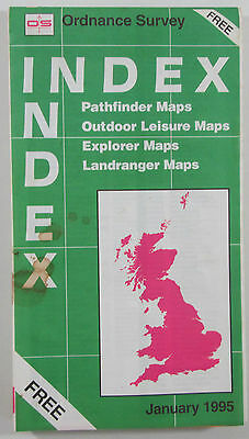 Old vintage OS Ordnance Survey Mapping Index January 1995