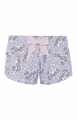 Primark Ladies Women Girls My Little Pony Unicorn Shorts pyjama set PJS BN