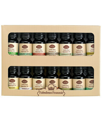 Fabulous Frannie - Aromatherapy Spice Rack Set 10ml 100% Pure Essential Oils