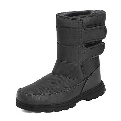 Mens Snow Boots Fur Fleece Lined Thermal Waterproof Winter Warm Shoes Anti Slip