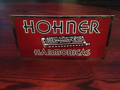 1930's HOHNER HARMONICA Counter/ Display - advertisement sign  - MADE IN CANADA
