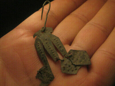 authentic Byzantine bronze earring