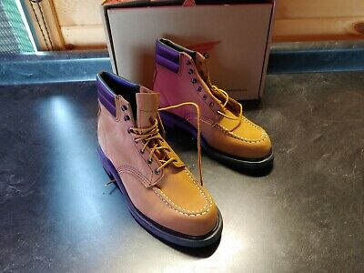 Red Wing Shoes Men's Heritage Moc Toe Leather 4539 6-in Boot Honey 10-D