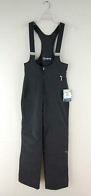 Fera Stretch Overall Insulated OTB Bib Black Snow Ski Zipper Pants Size 4R