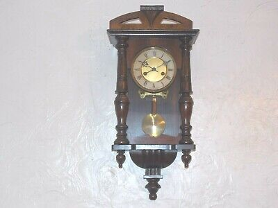 8Day Arts & Crafts Wooden Case Wall Clock By HAC In Very Good Antique Condition.