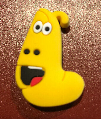 Whimsical Smiling Yellow LARVA Cartoon Croc shoe Charm Jibbitz Jewelry Fun