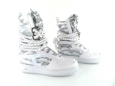 NIKE SF AIR Force 1 AF1 HI Premium Boots White Sneakerboot