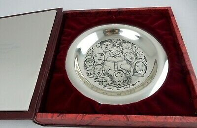 1972 Franklin Mint Norman Rockwell Christmas Plate Sterling 196.9 Grams