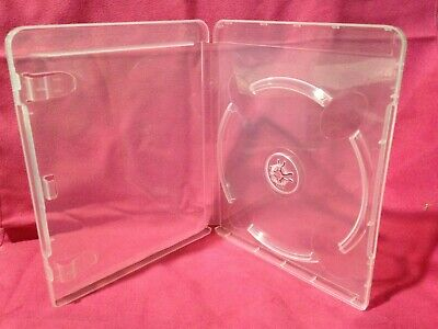 """1 New, Playstation 3, PS3, Clear, Blu Ray Media Case, 1/2"""" 14mm, with art Clips"""