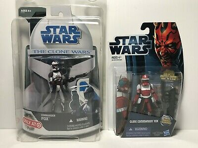 Star Wars The Clone Wars 2008 and 20212 Commander Fox MOC