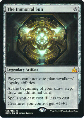 1 x MTG The Immortal Sun - Prerelease Foil Promotional - Mint/Near-Mint, English