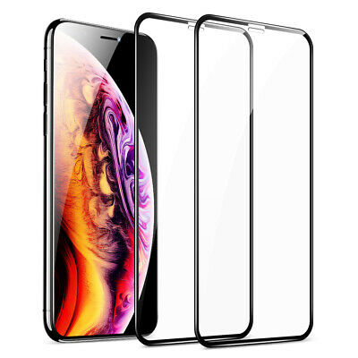 For iPhone 11 Pro XR XS Max Premium Tempered Glass FULL COVER Screen Protector