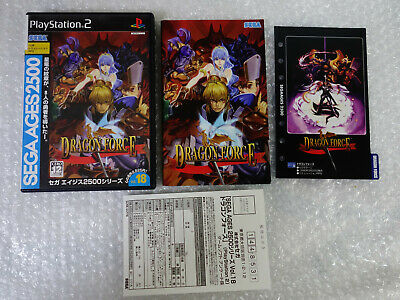 Dragon Force Sega Ages 2500 Vol 18 Sony PS2 Playstation 2 Japan