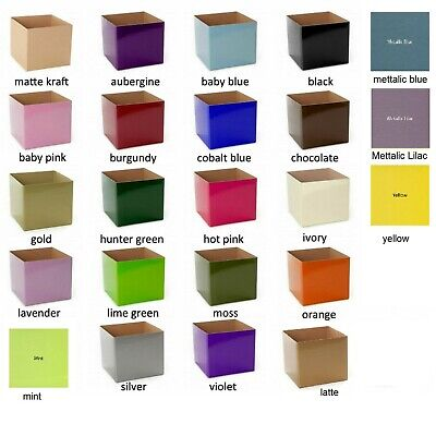 25 X Posy Cardborad Gift and Flower Posy Boxes Large  21.5X21.5 X14cm