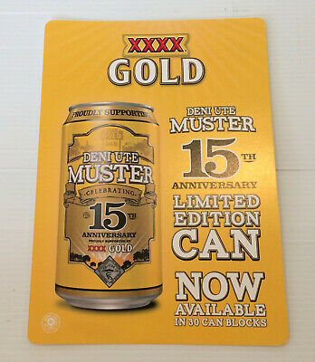 XXXX Gold 15th Anniversary Deni Ute Muster Limited Edition Point Of Sale Poster