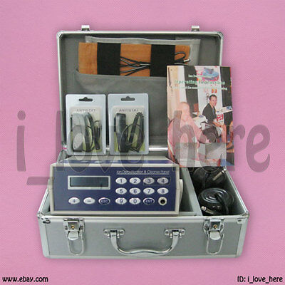Detox Machine Cell Ion Ionic Foot Bath Spa Chi Fir Belt Dhl Ship 1 Yr Warranty