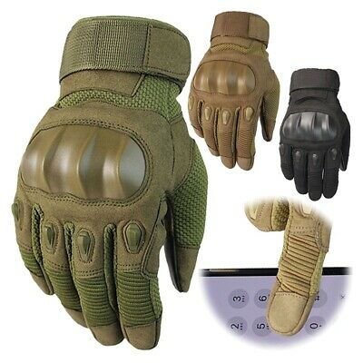Touch Screen Tactical Hard Knuckle Gloves Men's Special Ops Army Military Combat