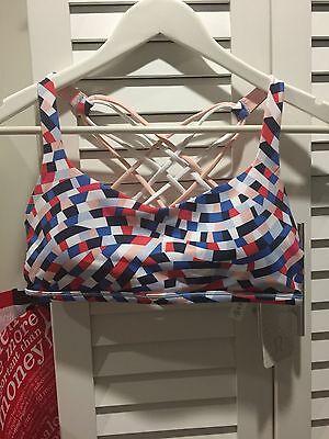 Lululemon Bra Strappy Gorgeous Colour Size Can 10 Fits Aus 12-14 New