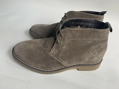 Marks & Spencer Boys Desert Boots In Suede Taupe Brown UK13 EU35 *HARDLY USED*