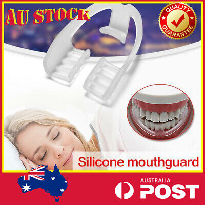 2X Night Sleep Mouth Guard Anti Snore Mouthpiece Stop Teeth Snoring Aid Bruxism