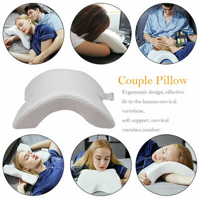 Arm Cuddling Curved Memory Foam Pillow Detachable Slow Rebound Tunnel Shaped US