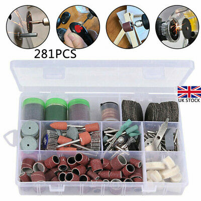 281Pcs Rotary Drill Tool Accessories Bit Set Polishing Kit For Dremel Grinding