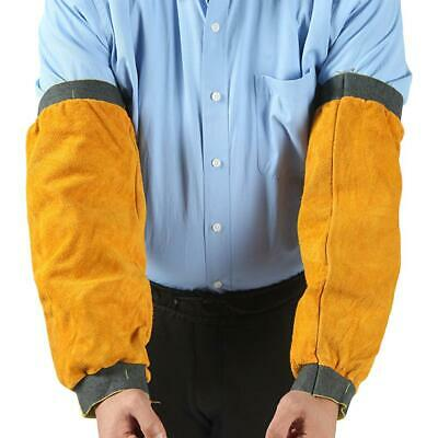 Cowhide Leather Welding Arm Protective Sleeves Anti-Wear Safety Electric Welding