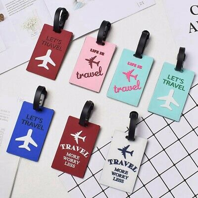 "Travel Luggage Tags Name Address ID Card Suitcase Bag Baggage Practical"" OhVWw"