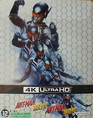 Antman and Wasp Steelbook Blu Ray 4K Ultra HD + Blu Ray New sub Cello