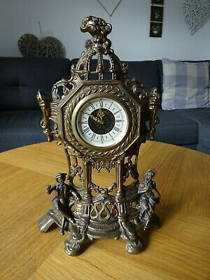 Antique Vintage TRENKLE Germany Mantel Clock, Wind Up Movement