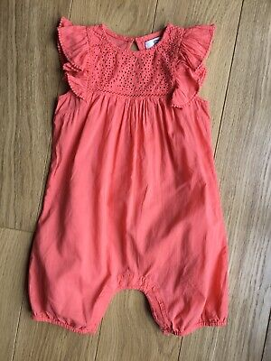 La Redoute Toddler Girl Summer Broderie Anglaise Summer Short Romper Outfit 2-3