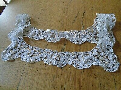 Antique  Needle Lace Dress Collar