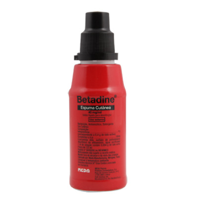 Betadine foam antiseptic liquid soap non-irritating 4% povidone iodine 125ml