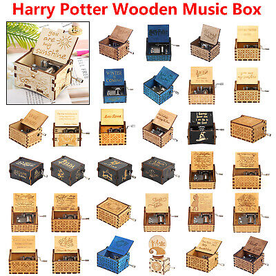 Wooden Music Box Harry Potter Game of Thrones Star Wars Engraved Christmas Gift
