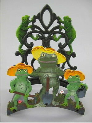 Tube Holder Cast Iron Colour (H) .33cm Frogs Decoration not only for the Garden