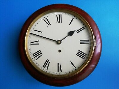 #049 Mahogany Coloured American 8 Day Dial Wall Clock