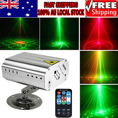 12 Patterns Voice Control Music Rhythm Flash Light LED Laser Projector Stage New
