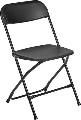 (50 PACK) 600 Lbs Capacity Commercial Quality Black Plastic Folding Chairs