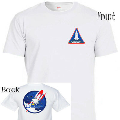 """UNITED STATES SPACE FORCE,USSF,NASA Q Patriot,""""Donald Trump"""" ,T-SHIRT T-1294Wht2"""